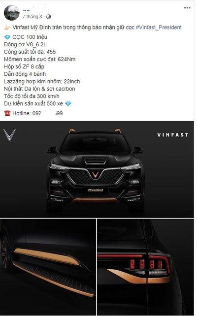 Hình ảnh tư vấn bán hàng chào đặt cọc VinFast President.