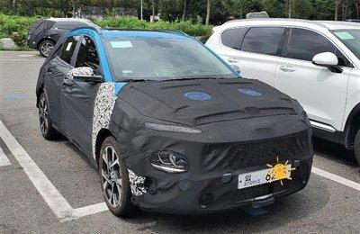 Hyundai Kona 2021 mới vẫn tiếp tục chạy thử tại Hàn.