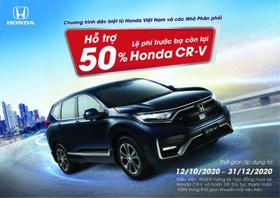 Honda CR-V nhận ưu đãi 50% phí trước bạ còn lại 1