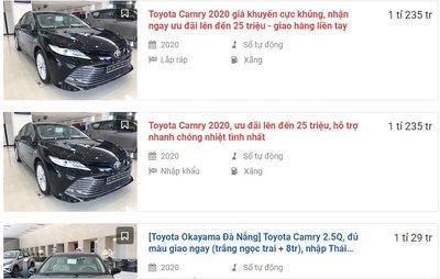 """Toyota Camry 2020 ưu đãi 25 triệu đồng, đại lý tự """"cắt máu""""... chơi liều? 1"""