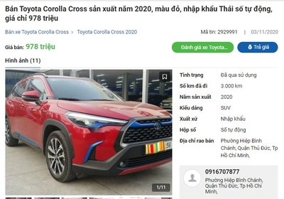 Toyota Corolla Cross 2020 chạy