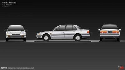 Honda Accord đệ tứ tăng trưởng kích cỡ.