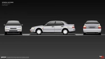 Honda Accord thế hệ V tinh chỉnh nhẹ.