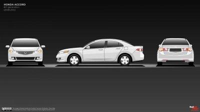 Honda Accord thế hệ thứ 8 tiếp tục tăng kích cỡ.