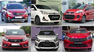 Các mẫu xe đô thị cỡ nhỏ đang được bán ra tại thị trường Việt Nam.