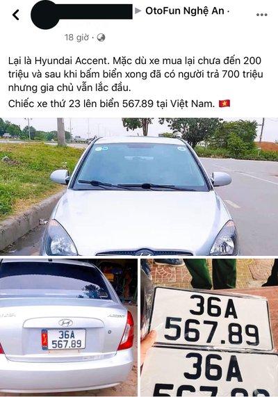 Hyundai Accent biển số 36A - 567.89 cực đẹp a1