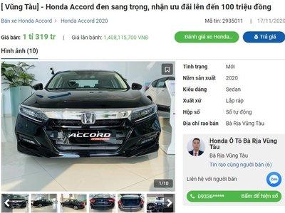 Honda Accord giảm giá mạnh tại đại lý 1