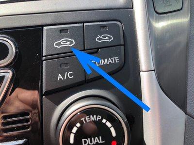 Chế độ lấy gió trong và ngoài trên ô tô.