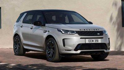 Land Rover Discovery Sport 2021 giữ nguyên ngoại hình bắt mắt.