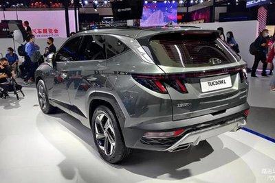 Hyundai Tucson 2021 L được trang trí đặc biệt.