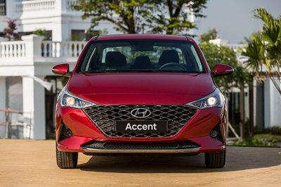 Thiết kế đầu xe Hyundai Accent 2021.
