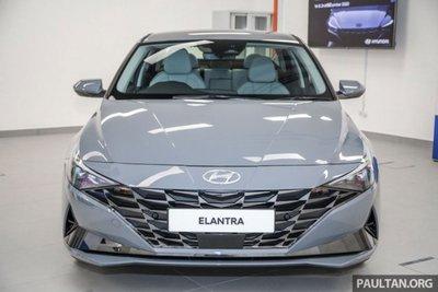 Thiết kế đầu xe Hyundai Elantra 2021 1