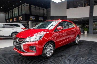 Mitsubishi Attrage cũng nhận ưu đãi 50% phí trước bạ.