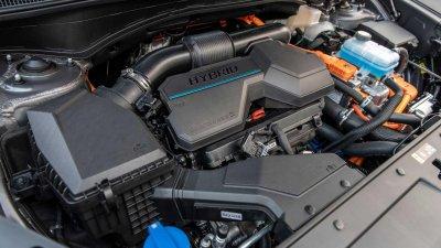 Hyundai Santa Fe 2021 bản động cơ truyền thống sẽ về tay người dùng sớm hơn bản hybrid.