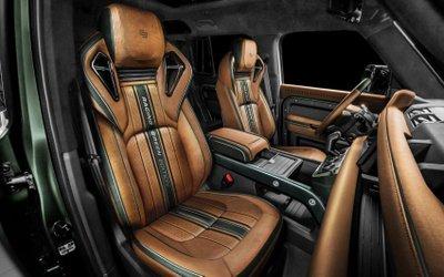 Land Rover Defender Racing Green Edition đẹp mắt từ ngoài vào trong.