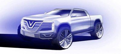 Hình ảnh bản phác thảo của xe VinFast.