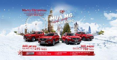 MG ZS giảm giá niêm yết, tặng quà đặc biệt mùa Giáng sinh.