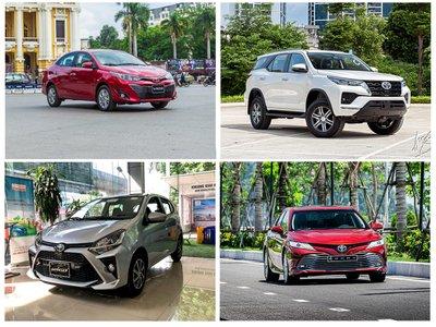 Các mẫu xe của Toyota tại thị trường Việt Nam.