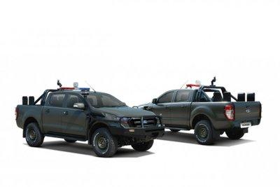 Ford Ranger 2021 và Everest bản phục vụ cảnh sát cực ngầu.