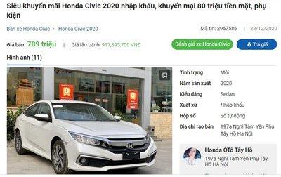 Đại lý giảm 80 triệu, Honda Civic 2020 chật vật kiếm khách 1