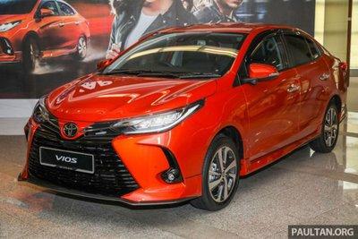 Toyota Vios 2021 tại Malaysia 1