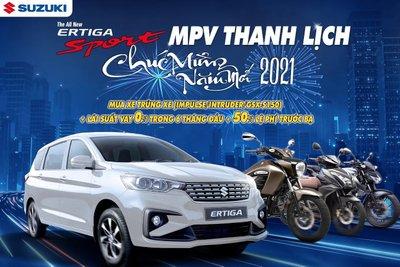 Suzuki Ertiga ưu đãi lệ phí trước bạ trong tháng 01/2021 1