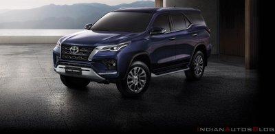 Toyota Fortuner 2021 cải tiến ngoại hình.