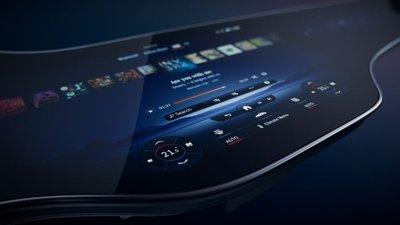 Màn hình xe Mercedes-Benz mới giúp người dùng chọn tính năng dễ dàng hơn.