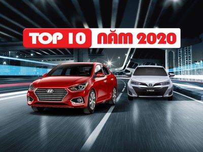 Top 10 xe ô tô bán chạy nhất năm 2020.