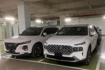 Hyundai Santa Fe 2021 xuất hiện tại Việt Nam 1