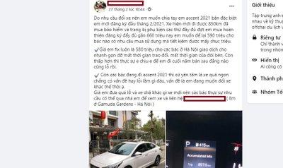 Chủ xe rao bán Hyundai Accent 2021.