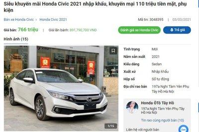 Honda Civic giảm giá tại đại lý 1