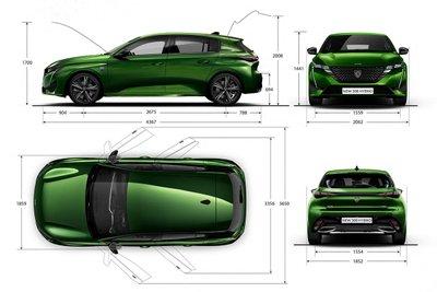 Peugeot 308 2021 thay đổi kích thước 1