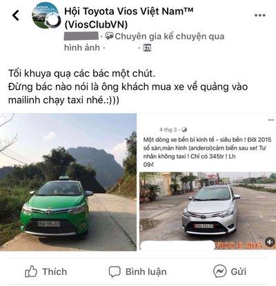 """Bài đăng chiếc Toyota Vios 2015 từng chạy taxi nhưng rao bán """"tư nhân"""" 1"""
