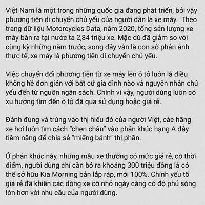 """Điều gì khiến dòng xe hạng A """"ăn nên làm ra"""" tại thị trường Việt Nam? a4"""