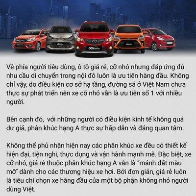 """Điều gì khiến dòng xe hạng A """"ăn nên làm ra"""" tại thị trường Việt Nam? a7"""