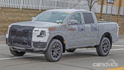 Ford Ranger Wildtrak 2022 lộ ảnh chạy thử.