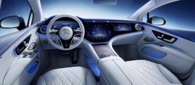 Mercedes EQS 2022 mới lộ nội thất hiện đại cực đỉnh.
