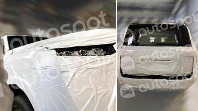 Toyota Land Cruiser được ngụy trang kín kẽ nhưng vẫn lộ rõ thiết kế đặc trưng.