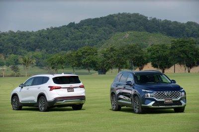 Giá lăn bánh Hyundai Santa Fe 2021 mới nhất.