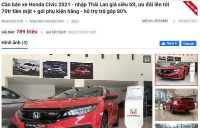 Honda Civic giảm giá từ 40 - 70 triệu đồng 1