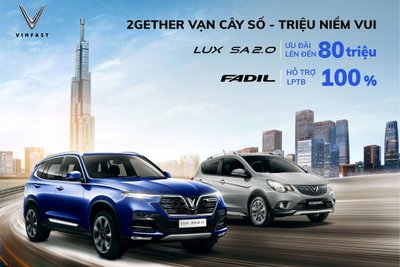 VinFast sẽ dành tặng 100% lệ phí trước bạ cho các khách hàng mua xe Fadil.