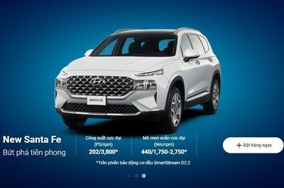 Hyundai nhận cọc Santa Fe 2021 trực tuyến, xu hướng bán ô tô online bùng nổ 1
