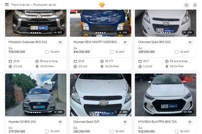 Ngân hàng VIB cũng đang tiến hành thanh lý nhiều mẫu xe ô tô .