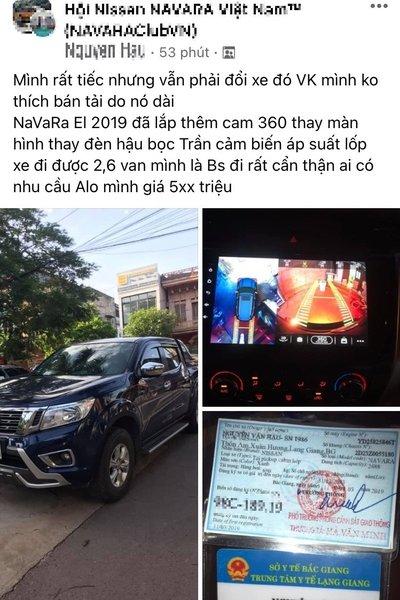 Nissan Navara EL 2020, sản xuất năm 2019 với giá mong muốn 5xx triệu 1