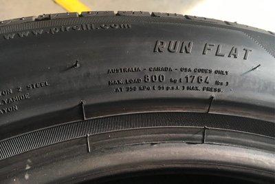 Trên lốp run-flat sẽ ghi rõ trọng tải chịu được.
