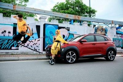 mẫu SUV đô thị cỡ nhỏ Hyundai Kona ghi nhận doanh số 435 xe trong tháng.
