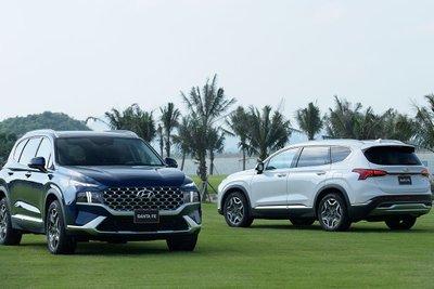 SUV Hyundai Santa Fe thế hệ mới được giới thiệu giữa tháng 5/2021 đã đạt phong độ ấn tượng, vươn lên giữ vị trí thứ 2 .