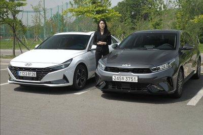 """Người đầu tiên """"bóc tem"""" cùng lúc Kia Cerato 2022 và Hyundai Elantra 2022, so găng mọi góc cạnh a2"""