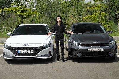 """Người đầu tiên """"bóc tem"""" cùng lúc Kia Cerato 2022 và Hyundai Elantra 2022, so găng mọi góc cạnh a1"""